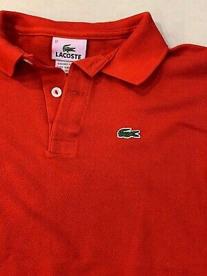 Lacoste Kids Boys Red Polo Shirt Size 12