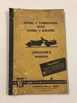 Letourneau-westinghouse Model C Tournapull W Model C Scraper Operators Manual