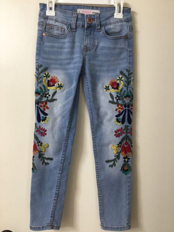 Girls Denim Diva Embrodered Skinny Jeans Size 8