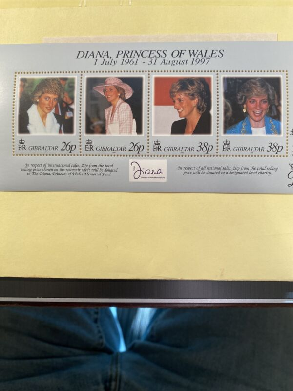 PRINCESS DIANA OF WALES STAMPS 1961-1997 NEVER HINGED WITH COA