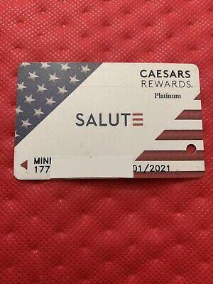 Caesars Rewards Platinum SALUTE Card Prefix #177 Expires 1/2021 ©️2020
