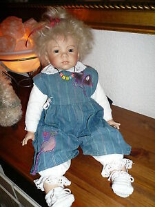 Lison Baby * Elisabeth Lindner * Künstlerpuppe Repro 52 cm * Porzellan