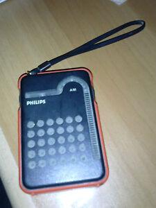 Radio-Philips-RL-047-Radiolina-Vintage-da-Collezione-AM-da-Viaggio