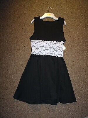 New Lace Black Sexy Party Skater Dress Goth Emo Witch Steampunk Halloween S/M
