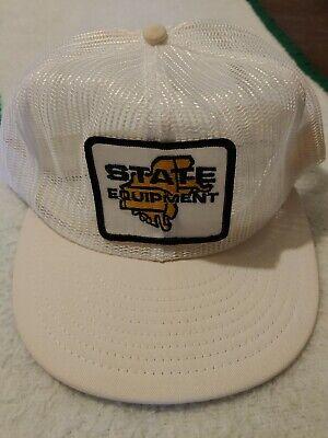 Vtg 90s State Equipment Northeast Patch Snapback Mesh Trucker Hat Cap USA