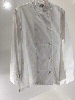 Chef Works Womens Relaxed Fit Sophia Long Sleeve Chef Coat White Small Nwt