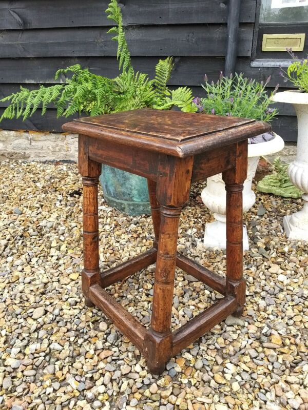 Period Oak Joint Stool Spares Or Repairs