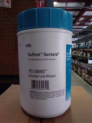 DUPONT SONTARA LOW VOC CLEANER PS-3909S 20 SEALED WIPES PER CANISTER
