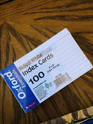 Oxford 41 4 X 6 Ruled Index Cards - White 100pack 1 Pack