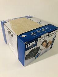 NAXA Electronics NRC-175 Digital Alarm Clock Tuning AM/FM Radio and CD Player -