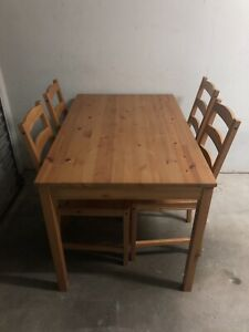 Ikea 4 Chair - Dining room table
