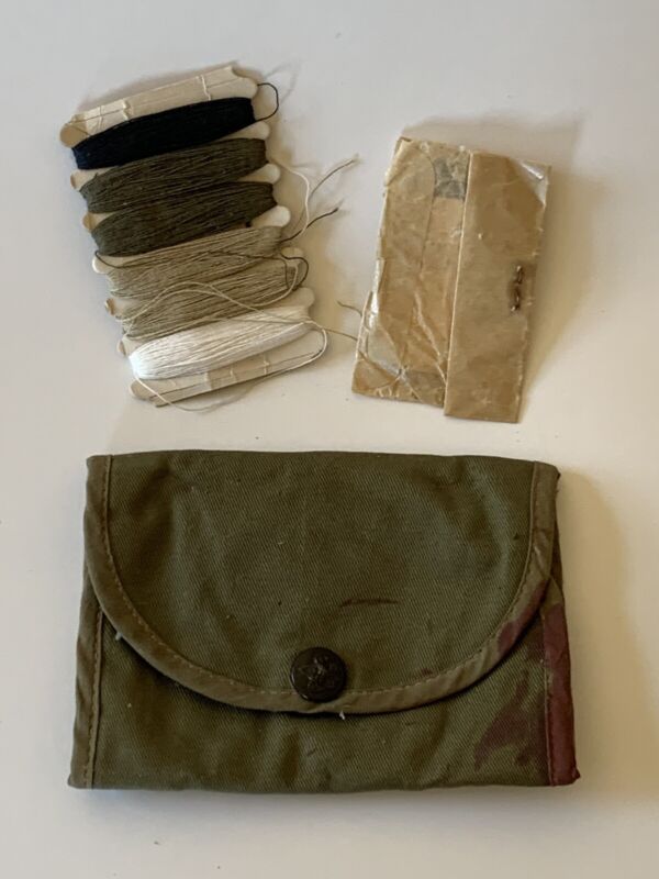 Vintage Boy Scouts BSA Sewing Mending Kit with Partial Contents