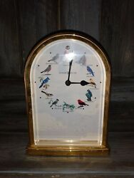 Howard Miller Song Birds of North America Table Clock Musical great shape WORKS