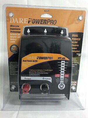 Dare Dpp 400 - Dual Power Acdc Electric Fence Energizer - New