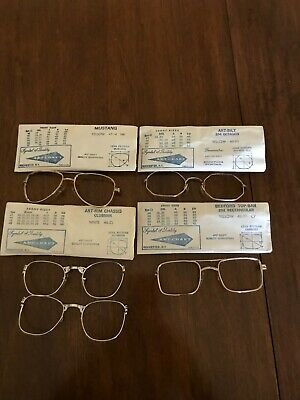 5 Vintage But New ART-CRAFT Frame Fronts, Original Packages with Lens Patterns