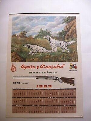 Rare Original 1969 Espana Spanish Rottweil Aranzabal Calendar Planells Graphics