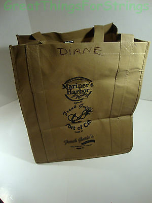 Mariners Harbor Medium Khaki Tote Shopping Bag Enviro Sacks Solid Bottom Reuse