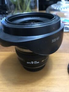 Canon EF-S lens 10-22mm 1:3.5-4.5 wide angle near new $399