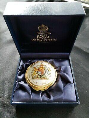 Royal Worcester 2002 Queen Elizabeth II Golden Jubilee Pill Box New in Box