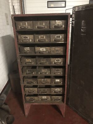 Vintage Industrial Metal  engineers  Cabinet