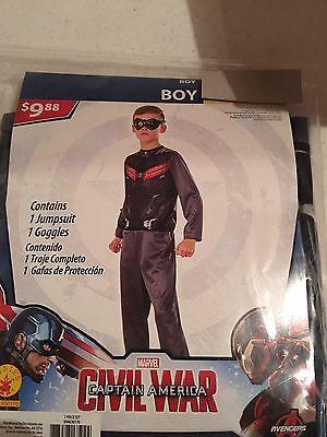 Halloween Costume Boy's Captain America Falcon Civil War Medium or Large - Falcon Halloween Costume