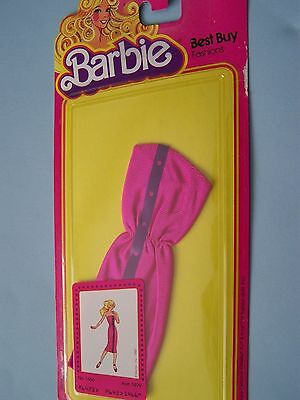 #1466 BARBIE BEST BUY FASHION  (c) 1980 - rose dress with purple