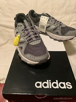 ADIDAS ROCKADIA TRAIL RUNNING SHOES - GRAY/CARBON - men's size 9- NEW W/BOX