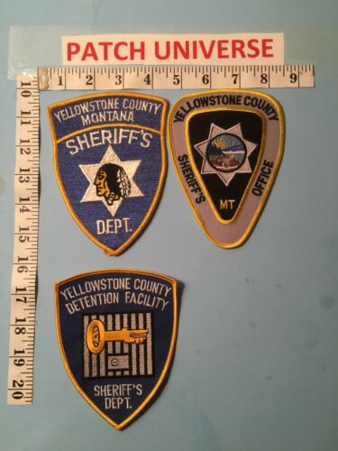 LOT OF 3  DIFFERENT YELLOWSTONE COUNTY MT  SHOULDER PATCHES  J003