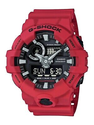 Casio G-Shock Analog/Digital Watch Red Resin GA-700-4A / GA700-4A