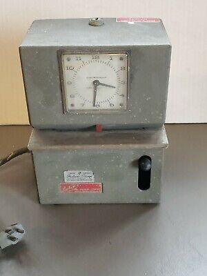 Lathem Time Clock Punch Vintage Mechanical No Key Parts Or Repair