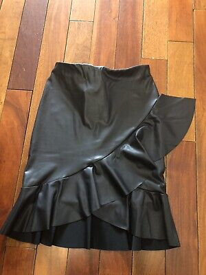 NWT ASOS Faux Leather Skirt 0