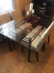 Glass dining table ( table only)