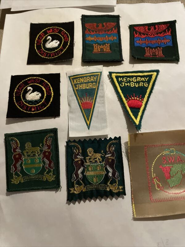 South Africa Lot of 18 Boy Scout Patches Including Kengray Jhburg SWA & Maluti