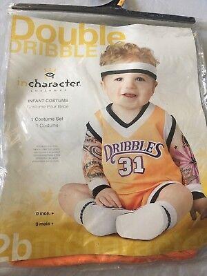 incharacter Double Dribble Basketball Orange Baby/Infant Halloween Costume S - Infant Basketball Halloween Costume