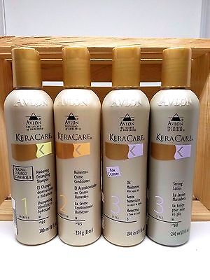 KERACARE SHAMPOO+CONDI+OIL MOISTURIZER+SETTING LOTION SET+FREE CLEANSING WIPE - Free Moisturizing Cleansing Wipes
