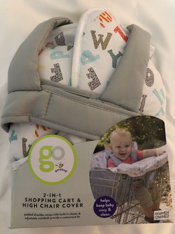 Go by Goldbug 2-in-1 Shopping Cart & High Chair Cover ABC new #10721