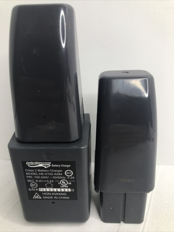 OEM SWIVEL SWEEPER WALL CHARGER MODEL HK-X102-A084 with Two Battery Packs