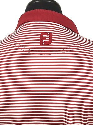 Florida Golf Shirt (FootJoy Golf Shirt Microstripe Red Florida Course Logo Men's Large Performance )