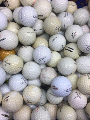 100 Hit-Away Shag Practice Range Used Golf Balls