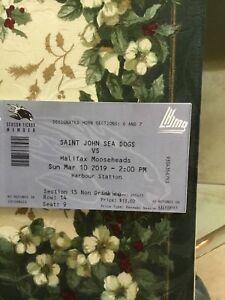 Seadogs season tickets