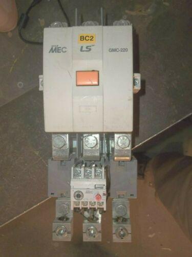 LS META MEC GMC-220 CONTACTOR 100-240V COIL WITH GTK-220 OVERLOAD RELAY (S4)