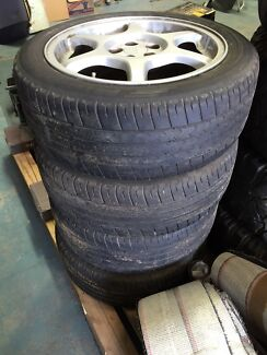 Subaru WRX wheels and Tyres 16 silver 99 Bayswater Knox Area Preview