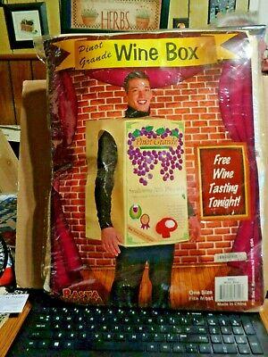 Box Of Wine Costume (RASTA IMPOSTA  Costume BOX OF WINE PINOT GRANDE, UNISEX, ONE)