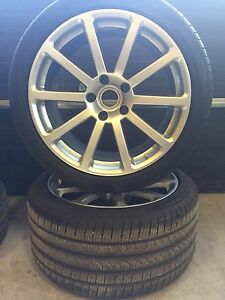 4 Wheel tires 295/35 R20 and Rims Victor Equipment Low profile