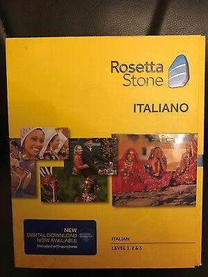 Rosetta Stone 1 2   3 V4 Learn Italian  Software   Digital Download Headset