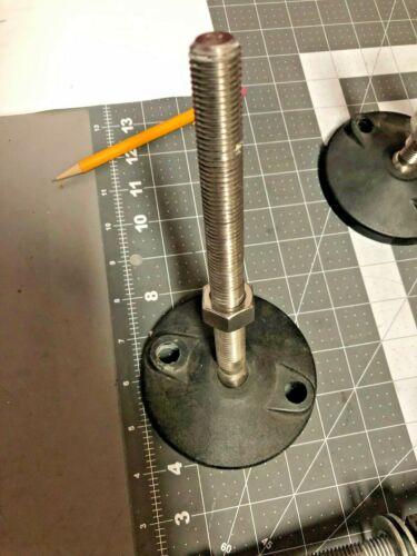 "Polymounts Machine Level Foot Feet Leveling Mount Large 4"" Base 7""tall 5⁄8 - 11"
