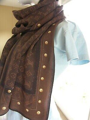 41e546884dcb1 (11) Damen Mädchen Louis Vuitton Großer Schal Tuch Stola -Hingucker !