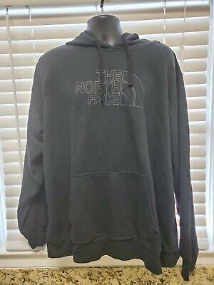 Mens Size 2XL The North Face Black Pullover Hoodie Jacket