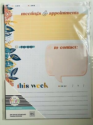 The Happy Planner Big Wet Erase Dashboards 2 Pcs