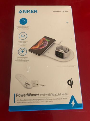 Anker - PowerWave+ Qi Certified Wireless Charging Pad - Whit
